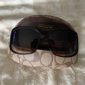 Coach sunglasses with classic tan Coach case
